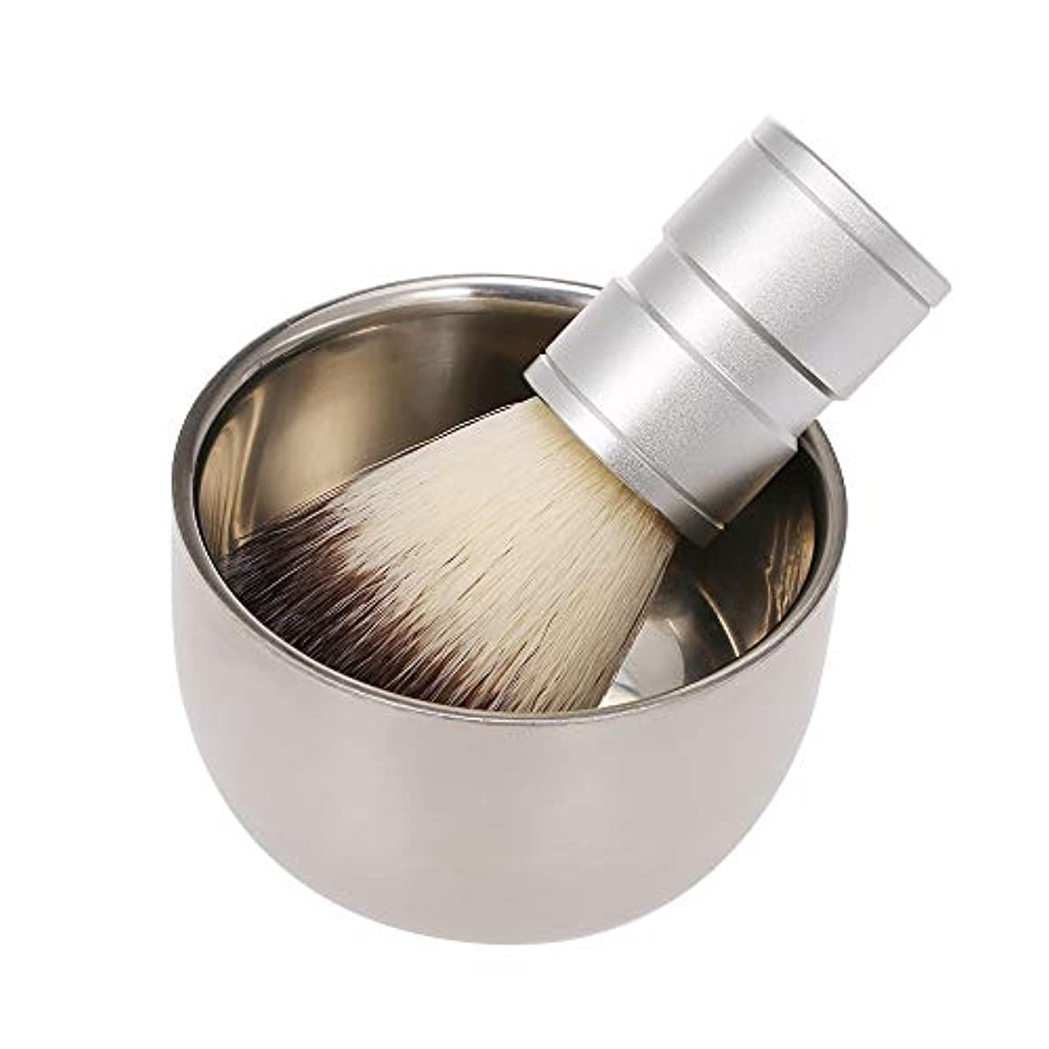プレゼンター若さからDecdeal 男性のシェービングブラシ付き石鹸ボウルクリームマグ理髪店サロン男性顔ひげクリーニングツールセット