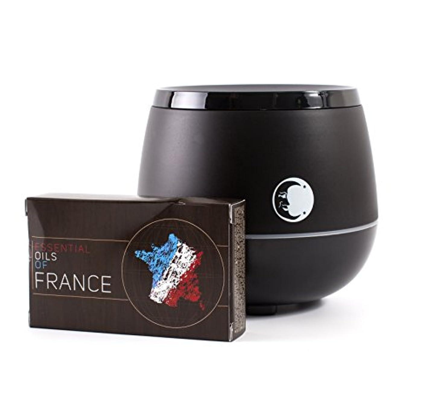 約設定チキンサンプルMystic Moments | Black Aromatherapy Oil Ultrasonic Diffuser With Bluetooth Speaker & LED Lights + Essential Oils Of France Essential Starter Pack
