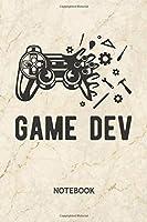 Game Dev: Game Developer NOTEBOOK Grid-lined 6x9 - Game Development Journal A5 Gridded - Game Designer Planner Game Development 120 Pages SQUARED - Game Design Diary Game Dev Soft Cover