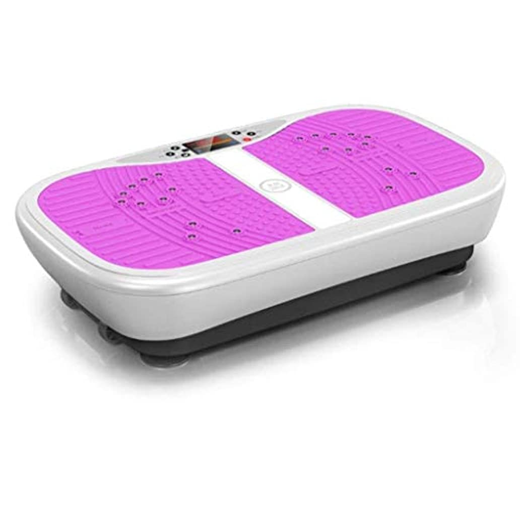 ぐるぐる規制印象的なホーム減量デバイス、バイブレーションフィットネストレーナー、スポーツおよび3Dフィットネスバイブレーションボード、リモートコントロールおよび99減量、ユニセックス、過剰な脂肪の削減 (Color : 紫の)