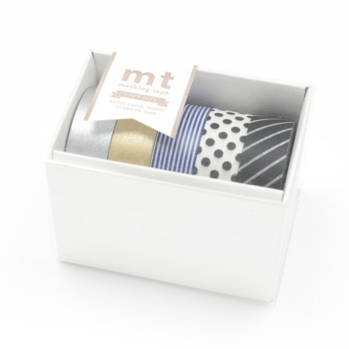 カモ井加工紙 mt ギフトボックス モノトーン 15mm幅×10m巻き 5巻セット MT05G004