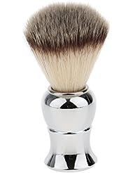 Kesoto メンズ シェービングブラシ ソフト ナイロン 合金ハンドル シェービング ブラシ サロン 髭剃りツール
