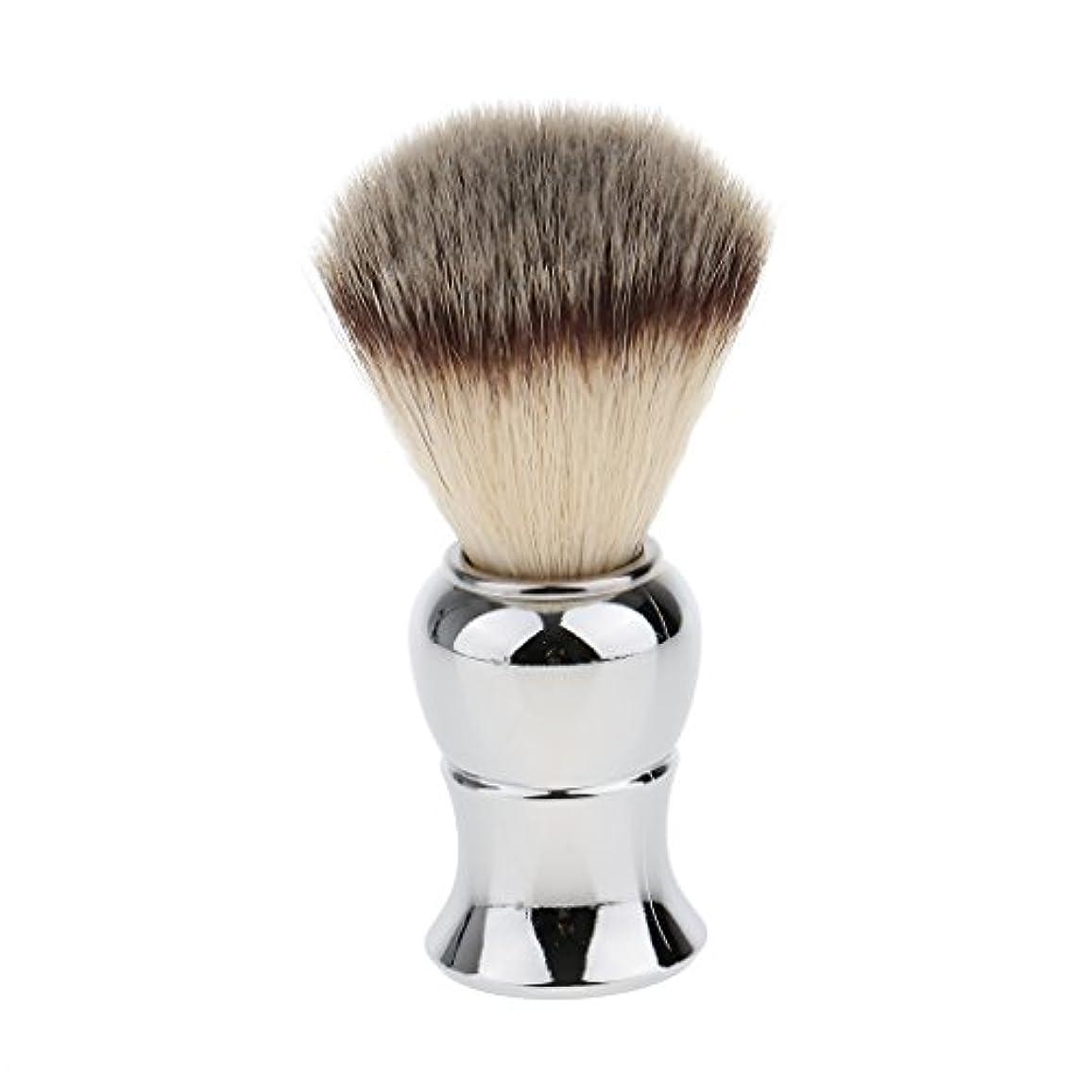 航空羊嫌なKesoto メンズ シェービングブラシ ソフト ナイロン 合金ハンドル シェービング ブラシ サロン 髭剃りツール