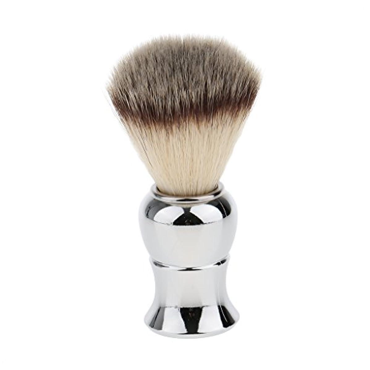 記念日アリス鳴らすKesoto メンズ シェービングブラシ ソフト ナイロン 合金ハンドル シェービング ブラシ サロン 髭剃りツール