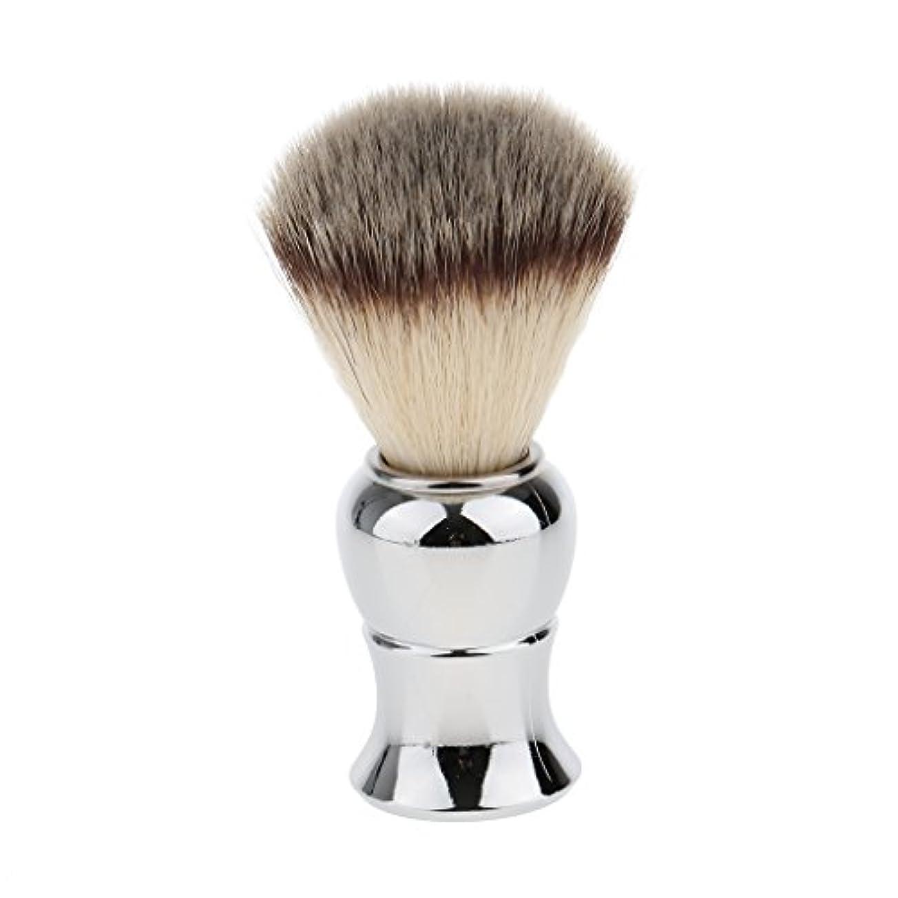 検索決して航海Kesoto メンズ シェービングブラシ ソフト ナイロン 合金ハンドル シェービング ブラシ サロン 髭剃りツール