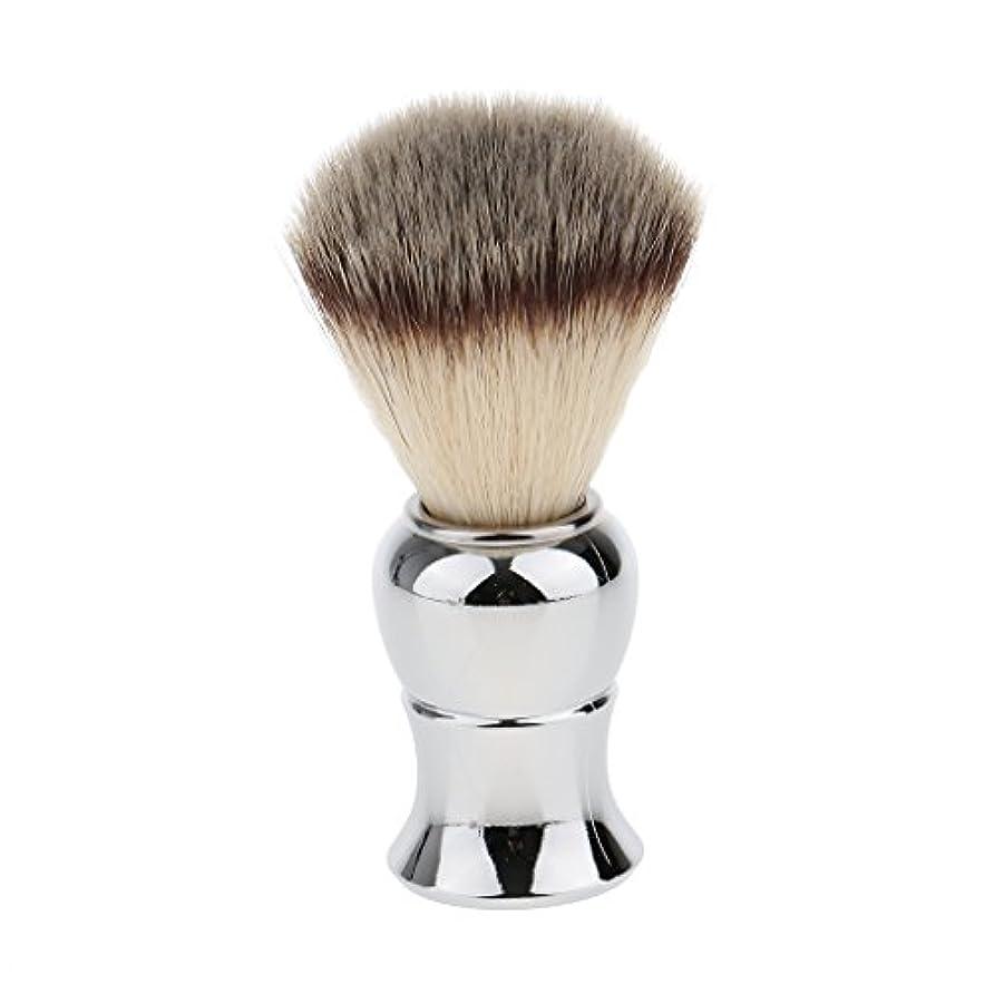 発生器古風な概念Kesoto メンズ シェービングブラシ ソフト ナイロン 合金ハンドル シェービング ブラシ サロン 髭剃りツール