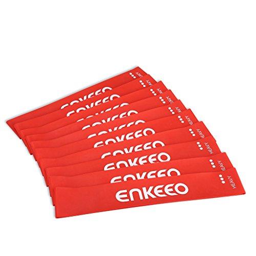 enkeeo トレーニングチューブ ヨガストラップ 長さ600mm×幅50mm 天然ゴム製 軽くコンパクト 異なった負荷を選べる ダイエット 体幹強化やリハビリなど用 ZXB【メーカー保証】