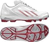adidas(アディダス) ジュニア・キッズ 43 ADIZERO TPU LOW 3 K 野球&ソフトボール スパイク シューズ  ランニングホワイト×ユニバーシティレッド×メタリックシルバー G66883 (24.5)