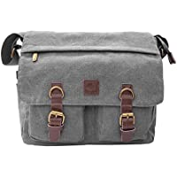 Handmade Canvas Messenger Bag Grey SHS001-G