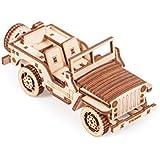 木製トリック3D機械モデルキットカーセット木製パズル、組み立てコンストラクター脳トレギア DIYバンドル4 in 1 Car Set