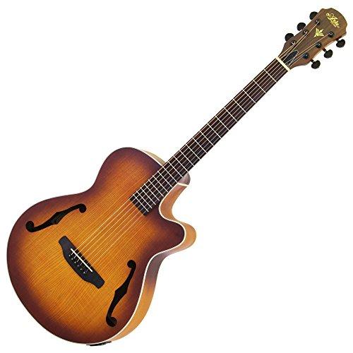Aria アリア Fホール仕様 エレクトリック・アコースティックギター オープンポアマット仕上げ 4バンドイコライザー ライトビンテージバースト FET-F1 LVS ソフトケース付属