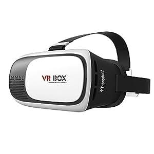 T-product(ティープロダクト) VR BOX 3D VRメガネ ゴーグル スマホ 3D映像体験 バーチャル リアリティ (ホワイト/ブラック)
