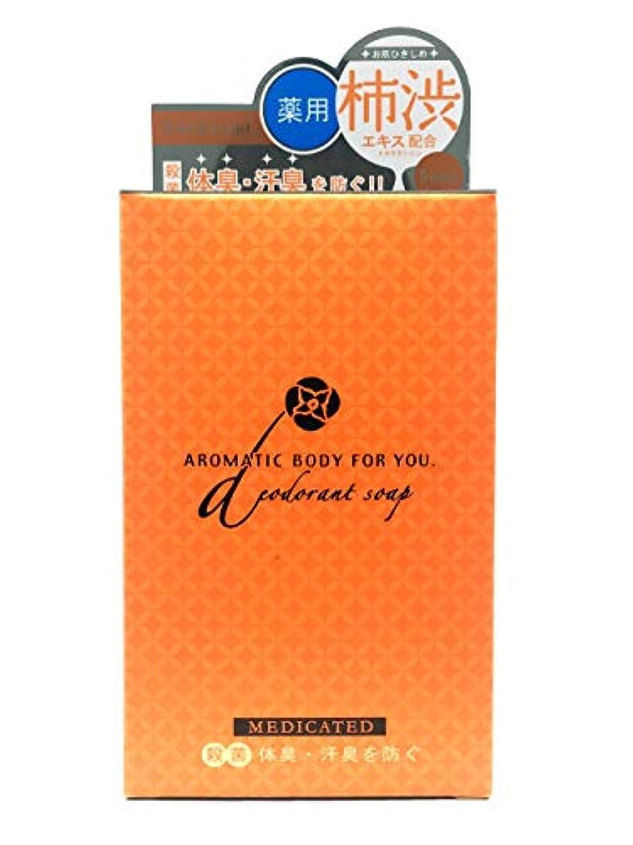 文明化アームストロングテントペリカン石鹸 柿渋エキス配合 アロマティックボディソープ 100g