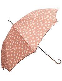 Juvia Pluie[ジュビア] 傘 レディース 婦人用雨傘 にじみ ドット プリント ファッション雑貨 紺