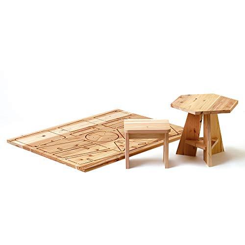DIY 自分で作る木の家具キット 木it キッズテーブル&チェア プラモデルファニチャー