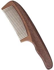 あごひげケア 美容ツール ひげ櫛 高級木製櫛 ヘアコーム 半月とき櫛 頭皮マッサージ 天然緑檀 静電気防止