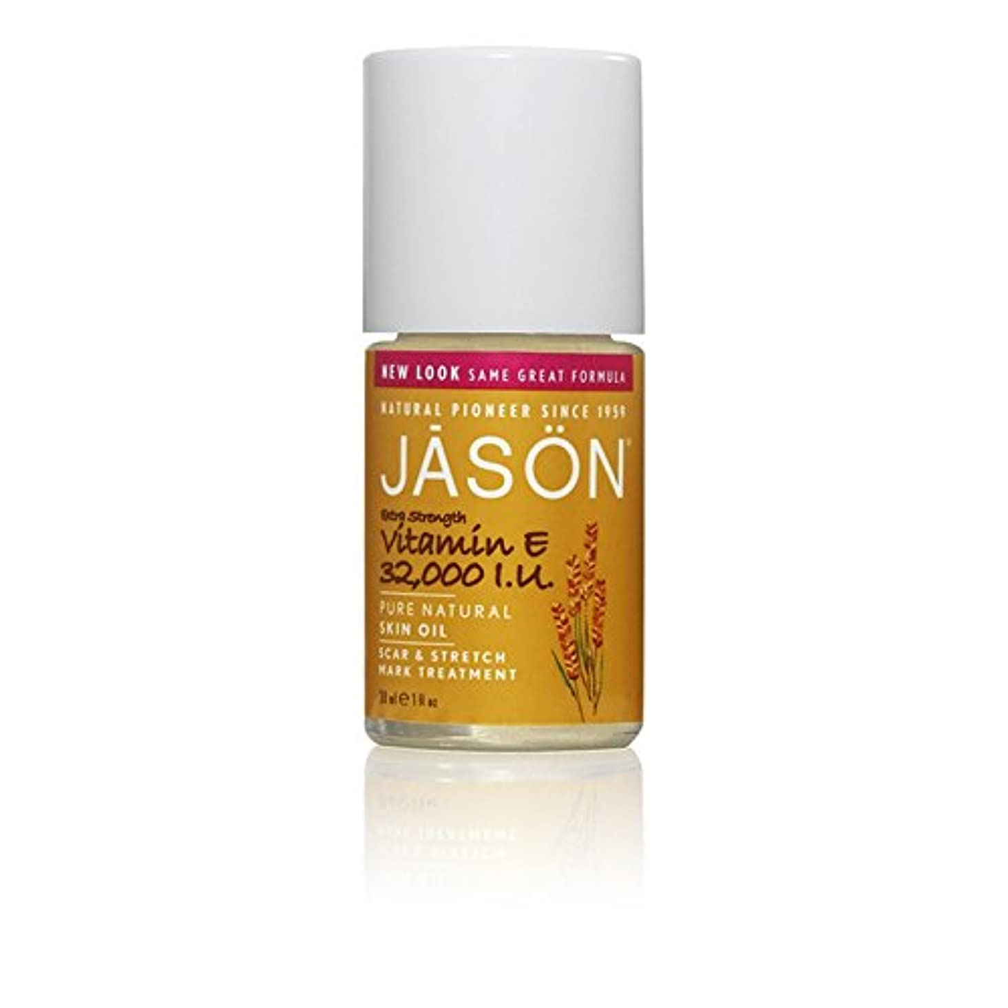 Jason Vitamin E 32,000iu Oil Scar & Stretch Mark Treatment 33ml (Pack of 6) - ジェイソン?ビタミン 32,000オイル傷跡&ストレッチマークトリートメント...