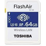 東芝 Flash Air W-04 第4世代 SDXC 64GB R:90MB/s THN-NW04W0640C6 Toshiba [並行輸入品]
