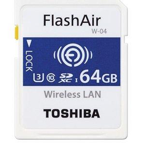 東芝メモリ FlashAir(フラッシュエアー)『SDXCメモリカード W-04 64GB(SD-UWA064G)』