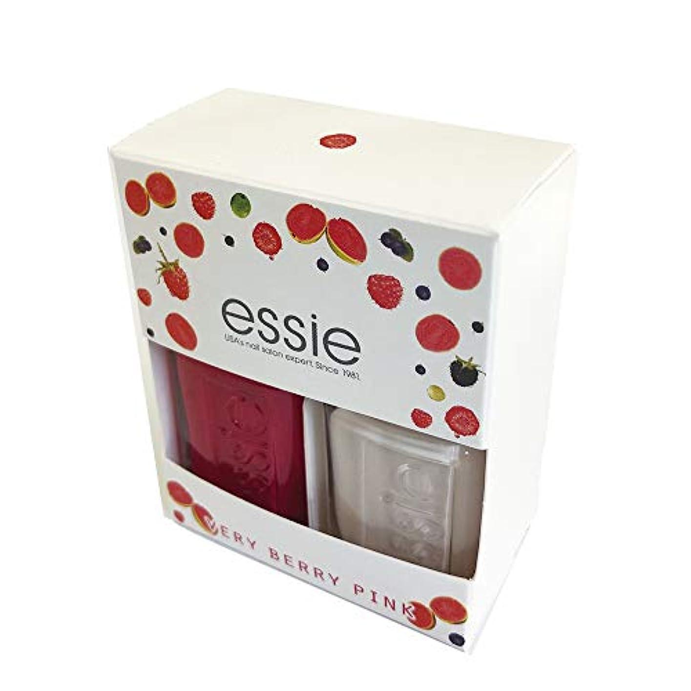 エレベーターゾーン買うEssie(エッシー) ネイルポリッシュ ベリーベリーピンク キット (2本セット)