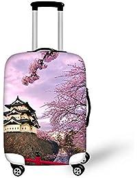 8dbe713865 ThiKin スーツケースカバー ラゲッジカバー luggage cover 富士山柄 目立つ 美しい 弾性設計 防塵 防水 洗える 伸縮素材 旅行  キャリーカバー おしゃれ 保護…