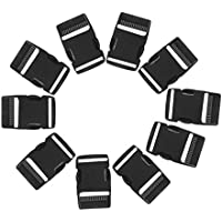 MagiDeal 10 Pieces Side Release Quick Release Buckles 1'' for Paracord Bracelet Dog Collar Backpack Parts