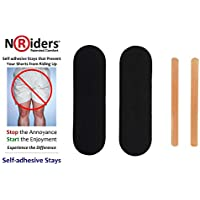 NoRiders 4-inch Self-adhesive Stays with Patches [6-Pack]