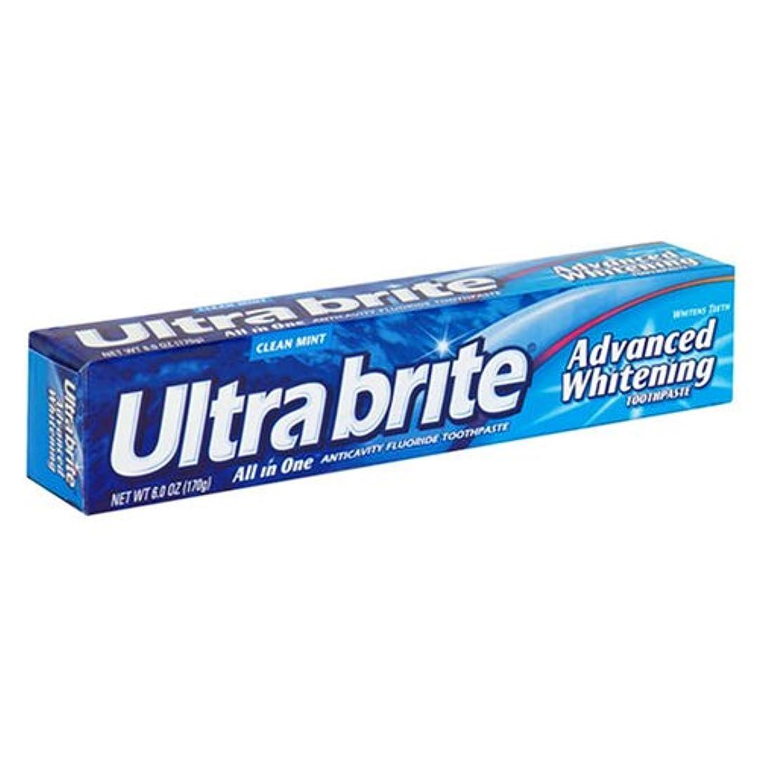 補体ラフ睡眠早く海外直送肘 Colgate Ultra Brite Advanced Whitening Fluoride Toothpaste, 6 oz