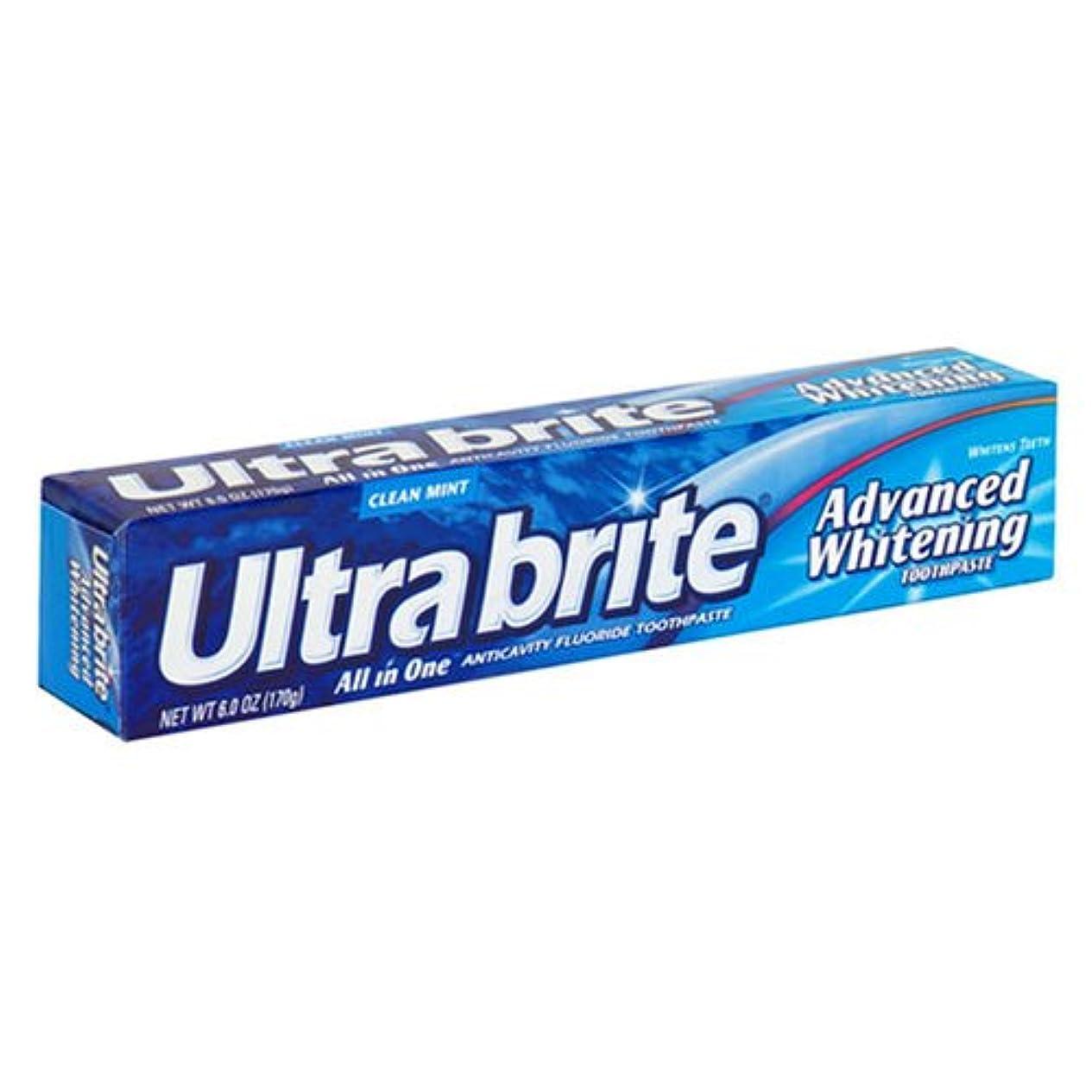 海外直送肘 Colgate Ultra Brite Advanced Whitening Fluoride Toothpaste, 6 oz