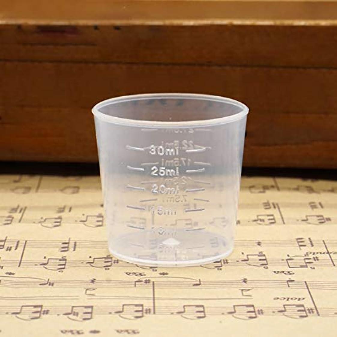 シャイニング不格好コンテスト再利用可能なポータブルサイズ測定カップ水差し卒業表面コンテナキッチンツール測定水差しツール-透明-30ml