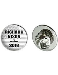 Richard Nixon For President 2016 Election Round Metal Lapel Hat Pin Tie Tack Pinback