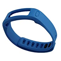 交換用リストバンド Garmin Vivofit対応 クラスプ付属 (Blue, L)