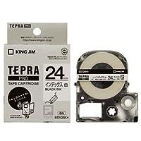 (まとめ) キングジム テプラ PRO テープカートリッジ インデックスラベル 24mm 白/黒文字 SSY24K 1個 【×4セット】 〈簡易梱包