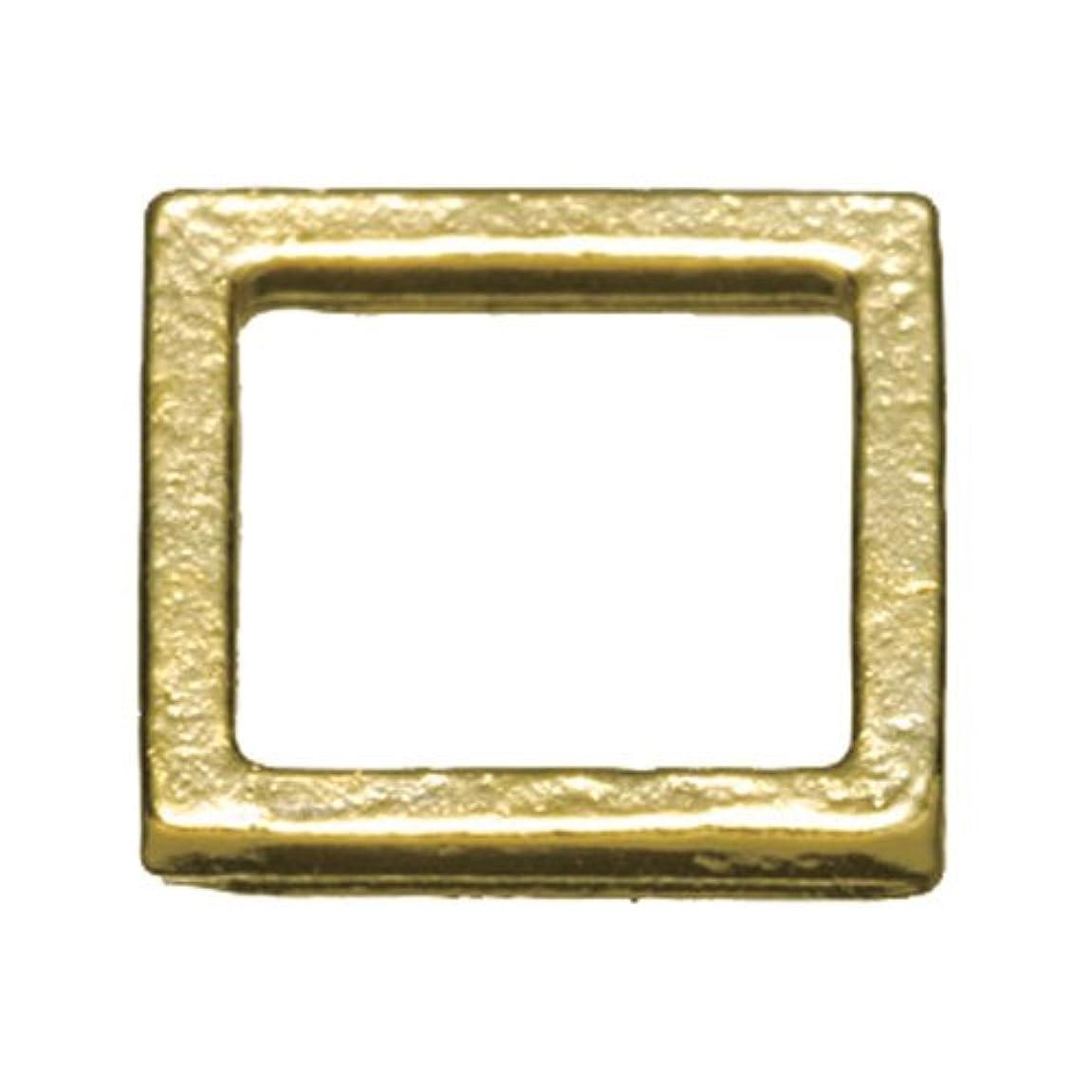 記憶に残る拡散するステッププリティーネイル ネイルアートパーツ プレーンスクエアM ゴールド  12個