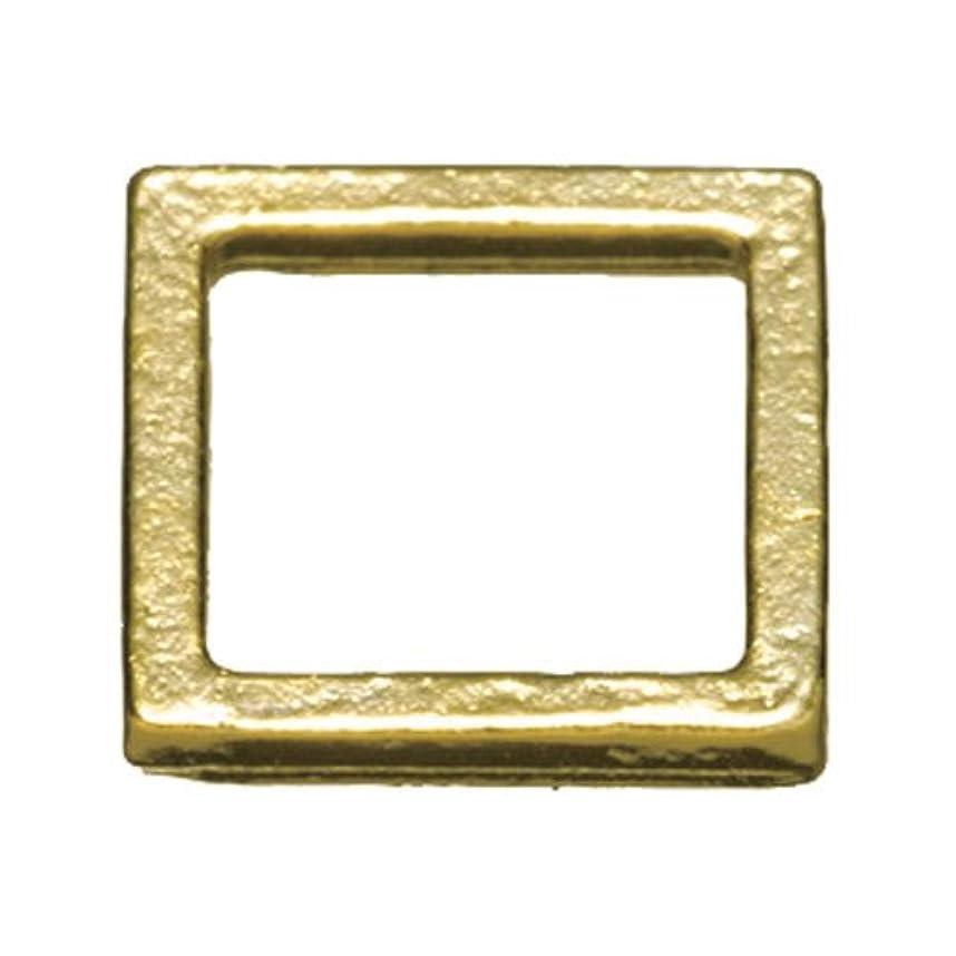熟考する洞察力のあるベルトプリティーネイル ネイルアートパーツ プレーンスクエアM ゴールド  12個