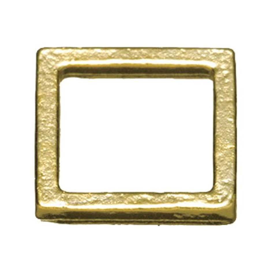 確かにレコーダー控えるプリティーネイル ネイルアートパーツ プレーンスクエアM ゴールド  12個