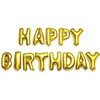 HAPPY BIRTHDAY バルーン 誕生日 バースデー 風船 誕生日おめでとう 文字 パーティー (ゴールド) HPY-GD