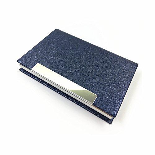 Bajoy 名刺入れ ステンレス 名刺ケース メンズ レディース兼用 PUレザー 折れないケース3色 (ブルー)