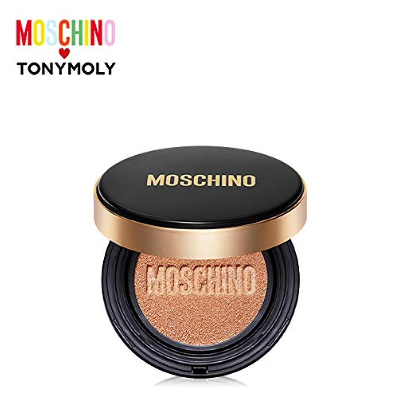 側脅かすヘッドレストニーモリー [モスキーノ] ゴールドエディション シック スキン クッション 15g TONYMOLY [MOSCHINO Edition] Gold Edition Chic Skin Cushion #01 CHIC...