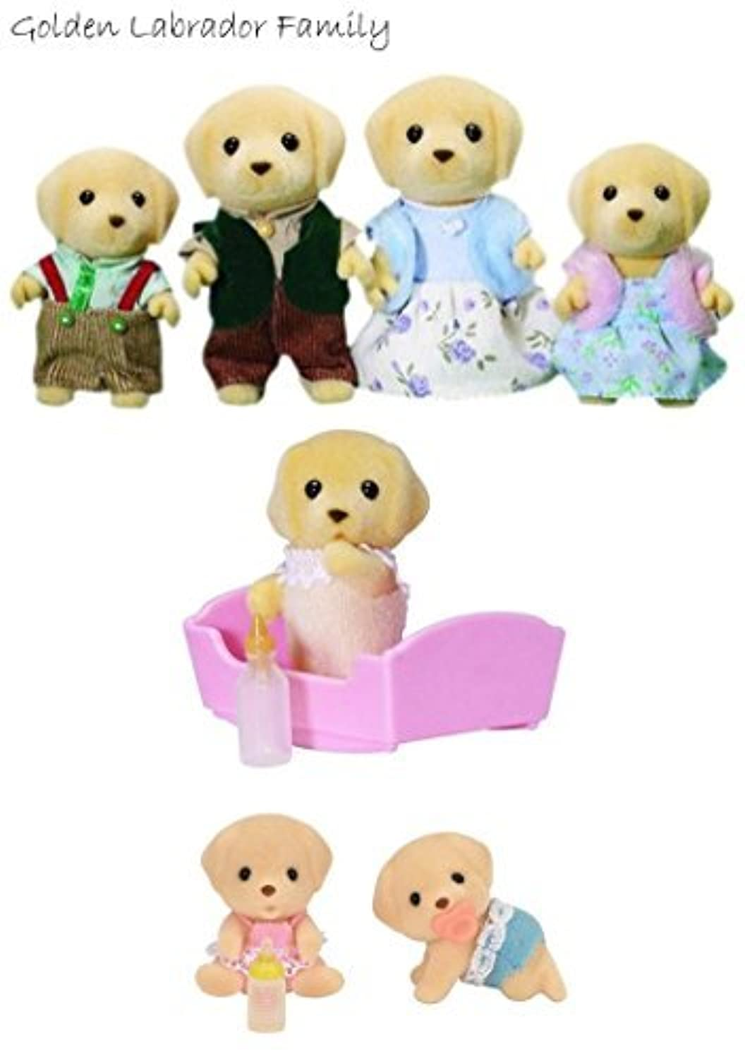 Sylvanian Families Golden Labrador Family Set, Twins Set and Baby - Value Pack [並行輸入品]