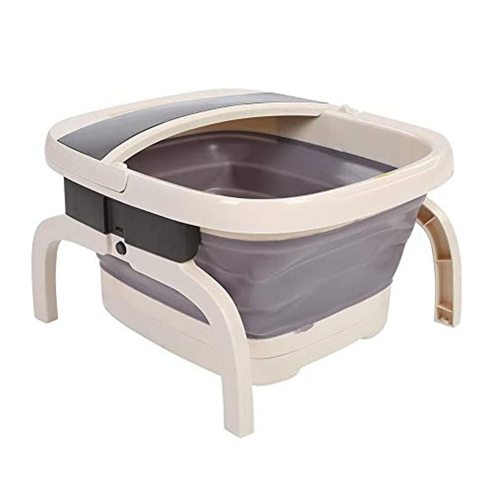 ドロップ市区町村カバーフットスパ折りたたみ式フットスパバスマッサージ暖房付き泡自動ペディキュアポータブル浴槽