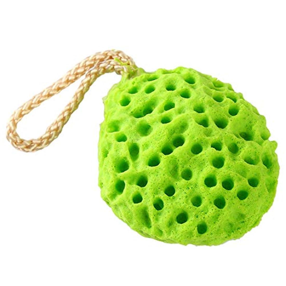 原稿壮大な頑固なKLUMA ボディースポンジ ボディタオル 泡立てネット 超柔軟 シャワー用 ボディ用 お風呂ボール 泡ボール ボディ洗い グリーン