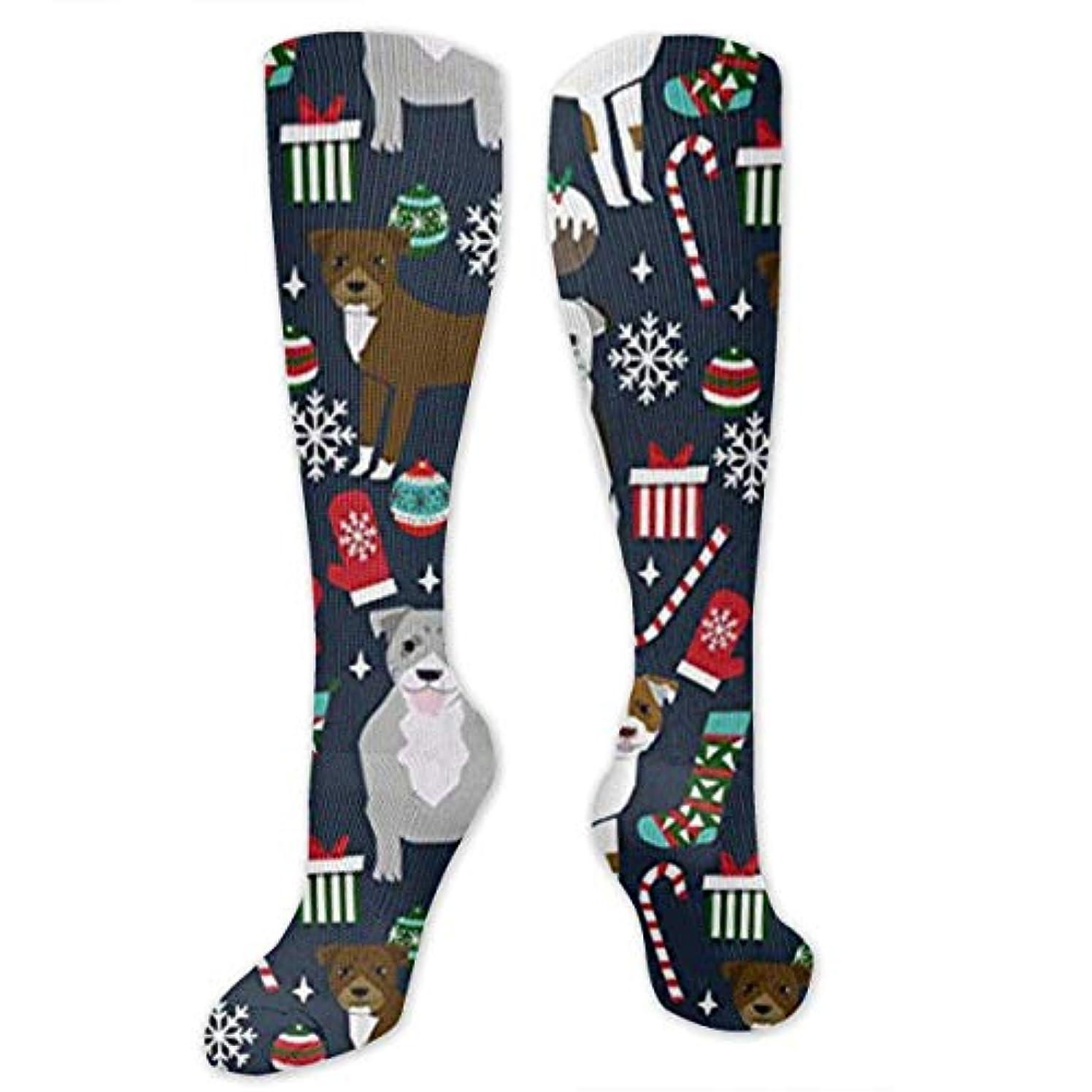 魅力的くしゃくしゃ近所の靴下,ストッキング,野生のジョーカー,実際,秋の本質,冬必須,サマーウェア&RBXAA Pitbull Terrier Xmas Dog Socks Women's Winter Cotton Long Tube Socks...