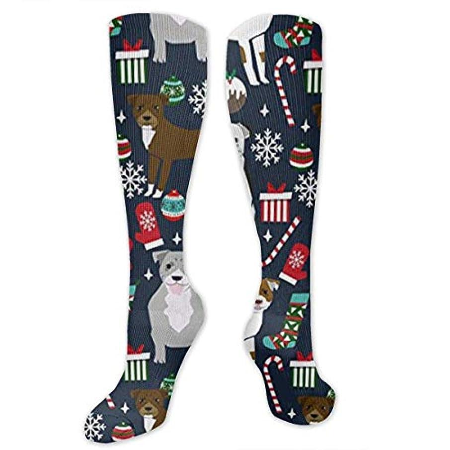 バウンド値協力する靴下,ストッキング,野生のジョーカー,実際,秋の本質,冬必須,サマーウェア&RBXAA Pitbull Terrier Xmas Dog Socks Women's Winter Cotton Long Tube Socks...