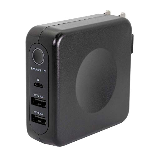 Owltech『AC充電器+ 6700mAhモバイルバッテリー(OWL-LPBAC6701-BK)』
