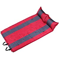 エアマット キャンプマット 自動膨張 連結可能 アウトドア 車中泊 防災 軽量 防水 エアピロー付き 収納袋付き