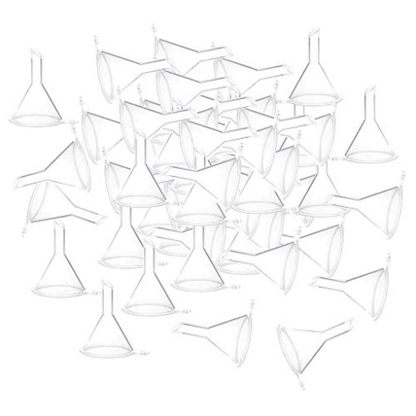ミニチュア真実に実質的SM SunniMix 3色選ぶ 100個入り ミニファンネル 漏斗 香水ボトル用漏斗 - クリア