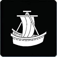 家紋シール 船紋 4cm x 4cm 4枚セット KS44-2112W 白紋