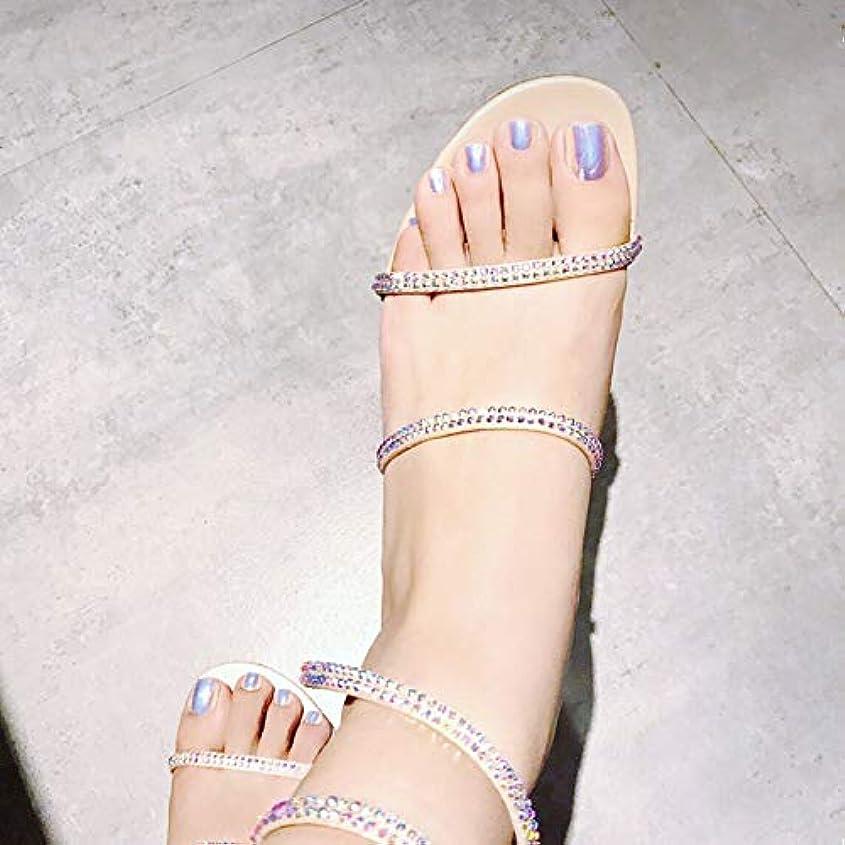 指定グローブアラーム足用24枚 純色 真珠光沢ネイルチップ 金属光の付け爪 手作りネイルチップ ネイルジュエリー つけ爪 シンプル 両面接着テープ付き 結婚式、パーティー、二次会など