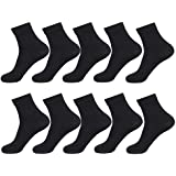 CROWNEW 商务袜 男袜 袜子 棉 抗菌防臭 透气 适合四季款 10双装